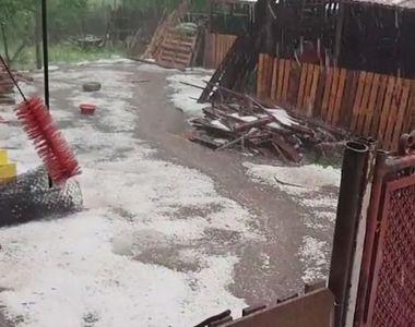 Dezastru in Dolj dupa ce a plouat cu gheata! Localnicii nu au mai vazut niciodata asa...