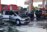 Tragedie intr-o benzinarie din Cluj! Un barbat si-a dat foc in propria masina