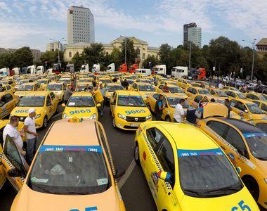 Protest al taximetristilor! Soferii de taxi au iesit in strada si cer modificarea legii...