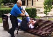 """Imagini halucinante surprinse intr-un parc din Brasov! Fiica unui fost senator, batuta pe strada de un barbat in varsta! """"I-as fi rupt capul, dar..."""""""