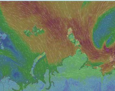 Un ciclon puternic venit dinspre Peninsula Balcanica loveste tara noastra! A plouat...