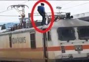 Un tanar din Sibiu a ajuns la spital dupa ce s-a urcat pe un vagon de tren si s-a electrocutat!