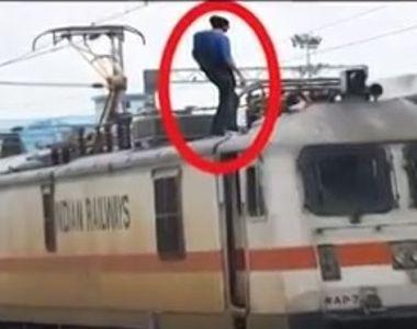 Un tanar din Sibiu a ajuns la spital dupa ce s-a urcat pe un vagon de tren si s-a...
