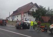 Accident grav intre Brasov si Sibiu. Doi oameni au murit. Taxiul in care se aflau a intrat pe contrasens