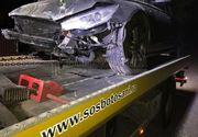 Un sofer s-a izbit extrem de violent de un stalp, cand a adormit la volanul masinii dupa multe ore de condus. Se intorcea de la munca din Anglia si era la cativa metri de propria lui casa