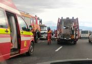 Accident devastator pe autostrada A1. Sunt mai multe victime, printre care si un copil de 2 ani