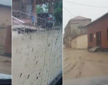 Dezastru in Cernavoda! Imagini dramatice dupa furtuna. Strazile s-au transformat in...