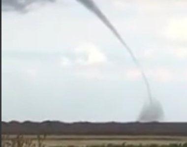 Video! Inca o tornada in Dobrogea, dupa ce un vartej urias a fost vazut in largul marii