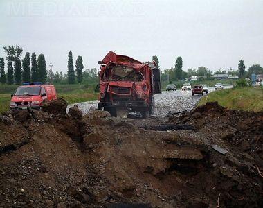 Accident crunt pe A2. Tragedia de la Mihailesti se putea repeta! Politistii sunt in...