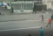 Descinderi in forta la clanurile de romi care s-au razboit cu topoarele, in strada, la Targu - Neamt