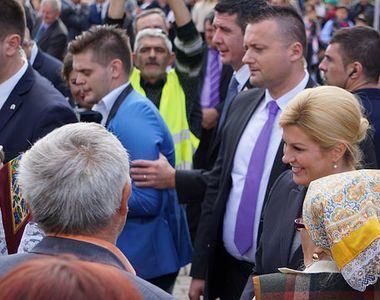 """Cum i-a socat """"presedinta"""" blonda a Croatiei pe romani, atunci cand a vizitat..."""