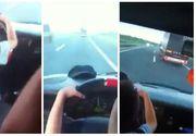 Parinti inconstienti! Au lasat copilul de doar 5 ani sa conduca masina pe autostrada!