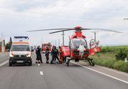 Accident cu patru victime in Constanta! A fost nevoie de interventia unui elicopter SMURD!