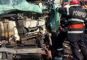 Accident mortal in Ialomita, in aceasta dimineata! Un camion a luat foc dupa ce s-a ciocnit cu o masina
