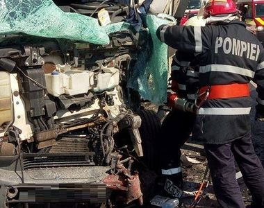 Accident mortal in Ialomita, in aceasta dimineata! Un camion a luat foc dupa ce s-a...