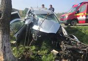 Accident teribil in Braila! O soferita a murit pe loc , dupa ce masina in care se afla s-a rupt in doua