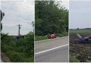 Accident cu patru victime pe DN1A, in apropiere de Ploiesti! Doua autoturisme si o motocicleta implicate!