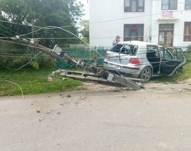 Accident teribil in Dambovita! Un copil a condus o masina in care se aflau alti 3 copii