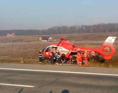 Accident pe Autostrada Soarelui! Elicopterul Smurd intervine. Sunt mai multe victime