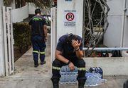 Numai in pielea lui sa nu fii! Drama traita de un pompier in Grecia. Si-a pierdut bebelusul in incendiile devastatoare, iar sotia se afla in stare critica