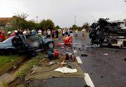 Accident devastator in Timis! Trei oameni au murit pe loc dupa ce masina in care se aflau s-a izbit de un TIR
