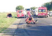 Soferul tractorului implicat in accidentul de la Buzau a fugit de la fata locului si este cautat de politisti!