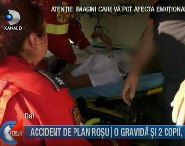 Accident teribil in Buzau! Au fost implicati o femeie insarcinata si doi copii. Planul...
