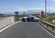 Accident la Sibiu! Sunt opt victime dupa ce trei autoturisme s-au ciocnit pe autostrada!