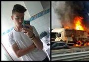 Alex avea 19 ani si se indrepta spre munca cand furgoneta a fost lovita de un TIR. A sfarsit ars de viu impreuna cu prietenul lui