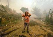 Sute de turisti au fost evacuati dintr-o statiune portugheza din cauza incendiilor de vegetatie!