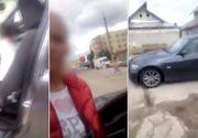 Cata inconstienta! Copil filmat la volanul unei masini, pe o strada din Targoviste!