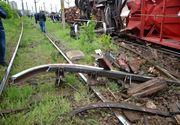 Un tren incarcat cu biocombustibil a deraiat in judetul Dolj! Sase vagoane s-au rasturnat. Traficul feroviar este blocat