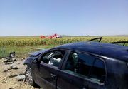 Accident cumplit in judetul Tulcea! Sunt mai multe victime incarcerate. A fost solicitat elicopterul SMURD