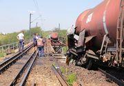 Ancheta dupa accidentul feroviar din Dolj! Apele Romane acuza ca au fost poluate toate paraurile din zona!