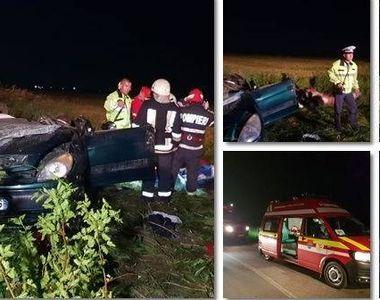 Grav accident in judetul Timis! Doi adulti si patru copii au fost grav raniti din cauza...