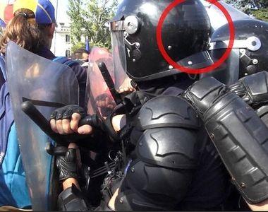 Explicatia Jandarmeriei cu privire la codurile de pe castile jandarmilor acoperite cu...