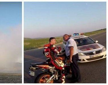 "Lectie dura data de un politist botosanean unui motociclist teribilist! ""Hai cu..."
