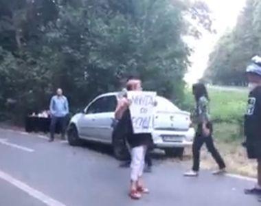 Protest la Snagov, unde are loc nunta lui Dragnea Jr.! Cum i-au asteptat manifestantii...