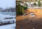 Toamna la extreme! Inundatiile si zapada de 20 de centimetri dau Italia peste cap