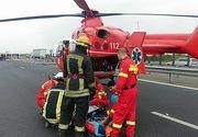Accident teribil in Constanta! O femeie insarcinata in 8 luni si un barbat au fost raniti! A intervenit un elicopter SMURD