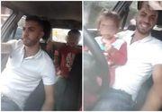 Un doljean a intrat in atentia politiei dupa ce a facut un live pe facebook in timp ce conducea cu un copil in brate!