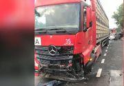 Accident grav pe DN6 Bucuresti-Alexandria! Un TIR si doua autoturisme au fost implicate