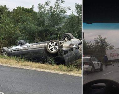 Primele imagini de la accidentul in care a fost implicat presedintele Republicii...