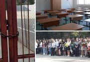Sute de elevi s-au pregatit de prima zi de scoala, insa la festivitate au gasit usile inchise. Vacanta s-a prelungit cu o saptamana