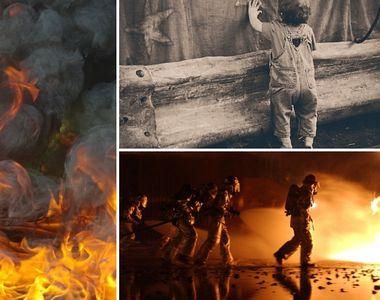 Incendiu violent in Buzau! Doua locuinte au fost cuprinse de flacari. Un copil de 2 ani...