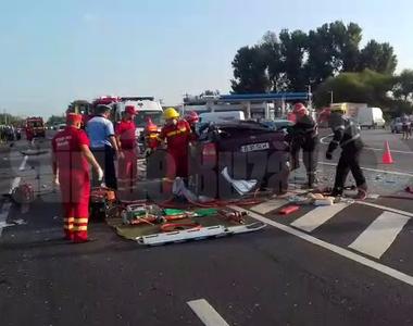 Accident mortal in Buzau! O persoana a murit, iar alte trei sunt in stare grava!
