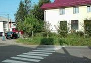 Se intampla in Romania! Un botosanean a trasat o trecere de pietoni cu bidineaua