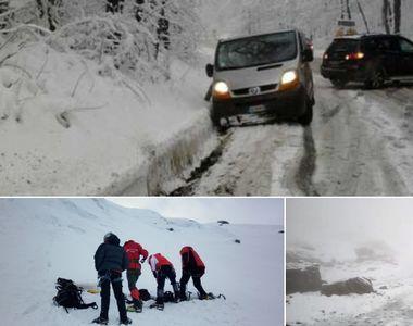 A nins abundent in Fagaras! Interventia dramatica a salvamontistilor pentru salvarea...