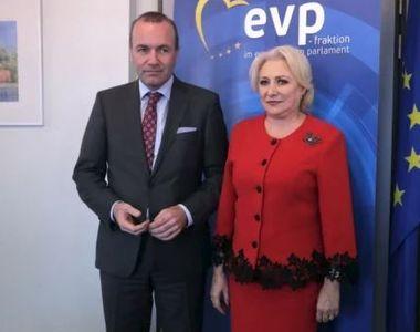 Liderul Partidului Popular European, Manfred Weber, dupa intalnirea cu Dancila:...