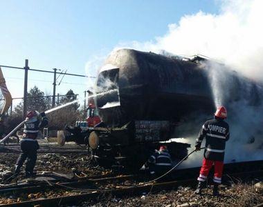 Pericol de explozie in gara din Videle! Traficul feroviar a fost paralizat in zona